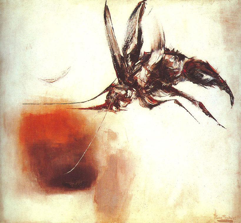 """""""Insecto en blanco"""" 1962 (obra no incluida en la donación). // Fotografía: Javier García Jaramillo."""