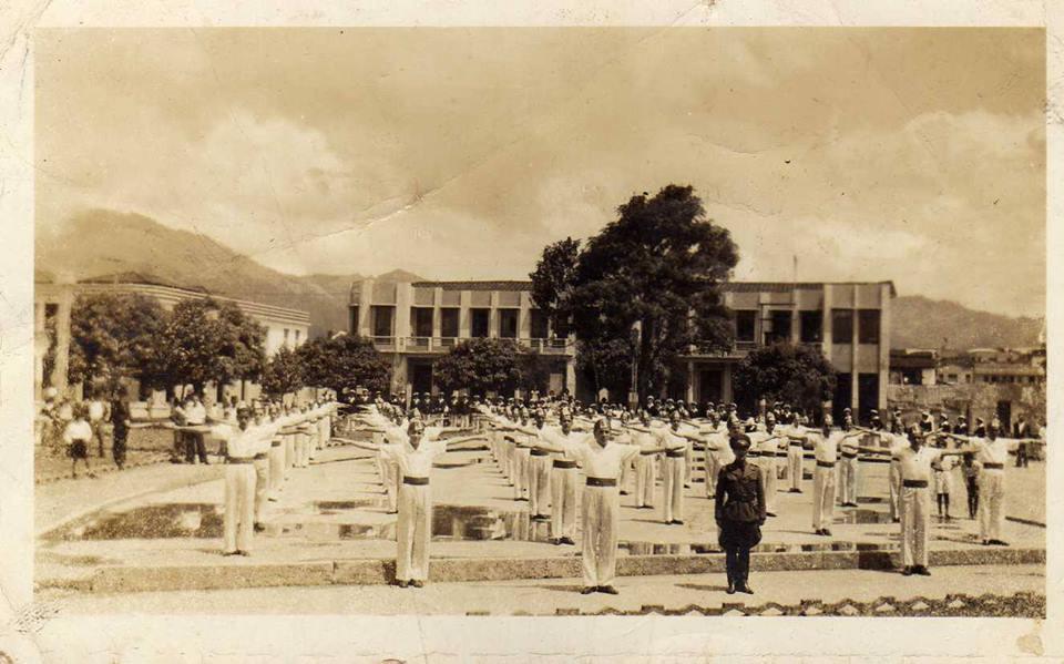 """La Salle, Parque  Olaya Herrera 1945 / Foto compartida por Ruth Tabares en el grupo de Facebook """"Fotos antiguas de Pereira"""""""