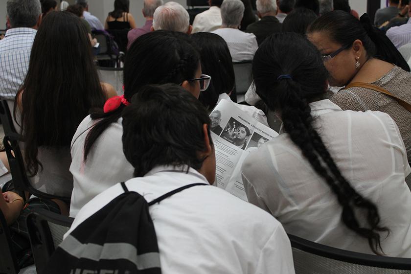 Público estudiantil asistente