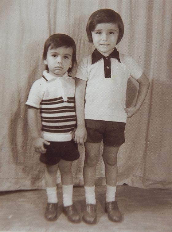 Diego González y su hermano Matador