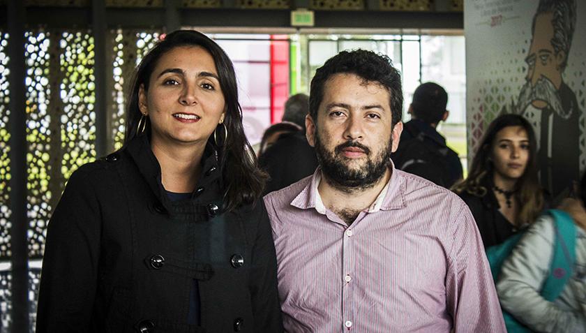 Carolina Toro, directora biblioteca pública Pereira y Giovanny Gomez, director Feria del libro